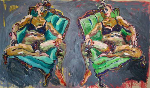 """Two Odalisques"" 2010, Oil / Canvas. 80""X 102"""