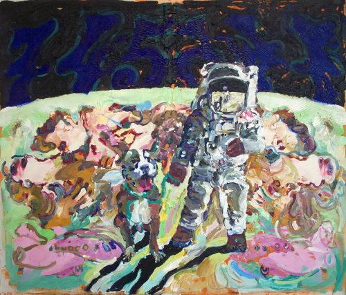 """Moon Palindrome"" 2008, Oil / Canvas. 68""X 76"""
