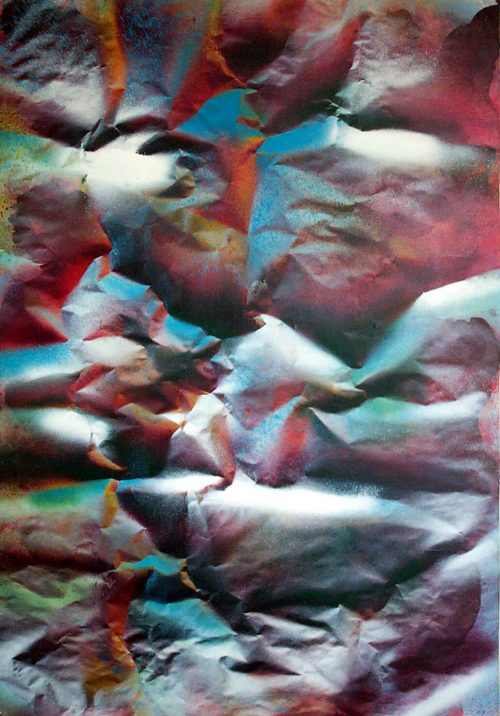 """Medea"" 2016, Acrylic / Paper / Canvas, 68in.X 48in."
