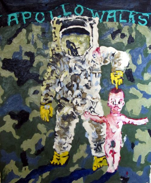 """Apollo (Moon) Walks"" 2008, Oil on Canvas, 60in.X56in."