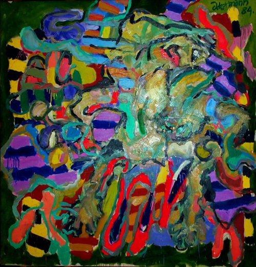 """""""Ballerina"""" 1984. Oil on Canvas. 78""""X 78"""""""