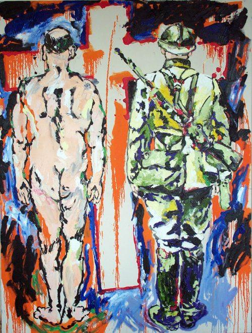 """CROSS Road"" 2003, Oil on Canvas. 72""X 60"""