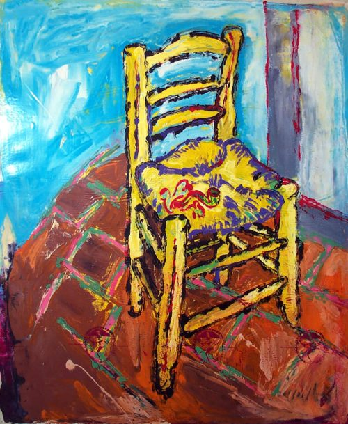 """Chair #1"" 2016, Oil / Canvas, 66in.X 60in."