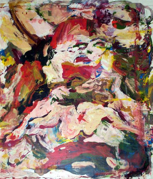 """de Kooning Woman #1"" 2009, Oil / Canvas. 42""X 36"""