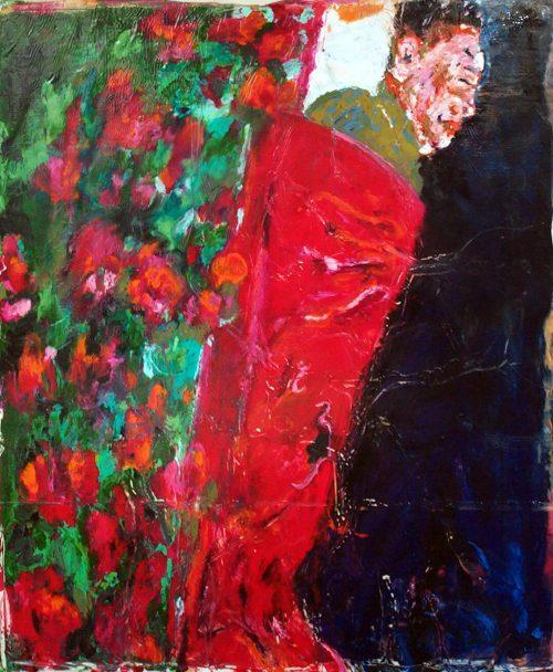 """ Kim Jong IL #2 2011, Oil / Canvas, 80in.X 60in."