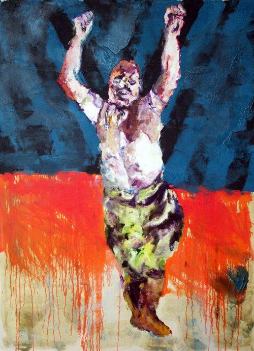 Mussilini #1 2010, Oil / Canvas, 80in.X 60in.