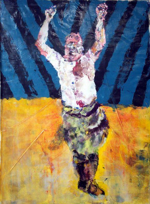 """""""Mussolini #2"""" 2010, Oil / Canvas, 80in.X 60in."""