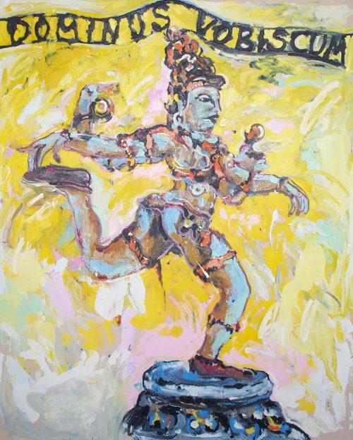 """Dominus Vobiscum"" 2006, Oil on Canvas, 60in.X 56in."