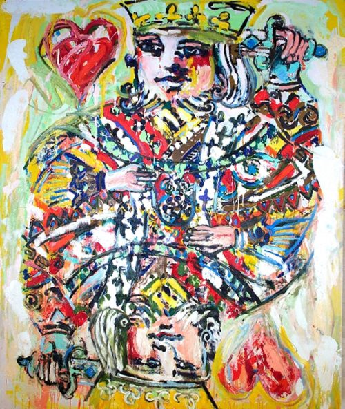"""""""The King of Hearts"""" 2003, Oil on Canvas. 96""""X 80"""""""
