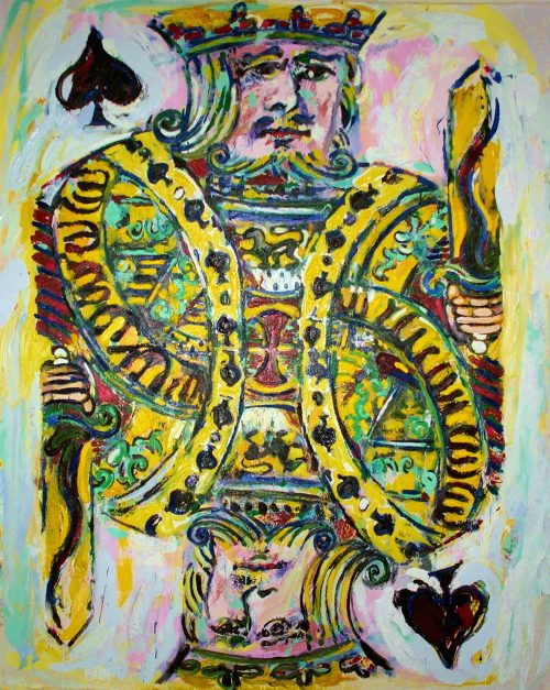 """The King of Spades"" 2003, Oil on Canvas. 96""X 80"""