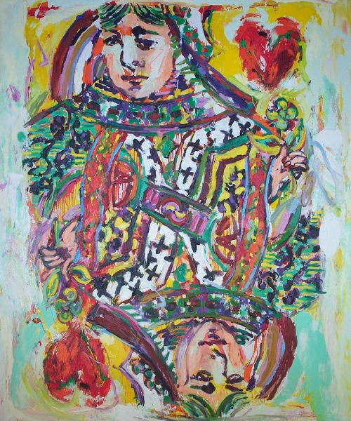 """""""The Queen of Hearts"""" 2003, Oil on Canvas. 96""""X 80"""""""