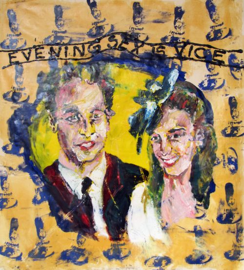 """Evening Sex Is Vice"" 2009, Oil on Canvas, 60in.X 56in."