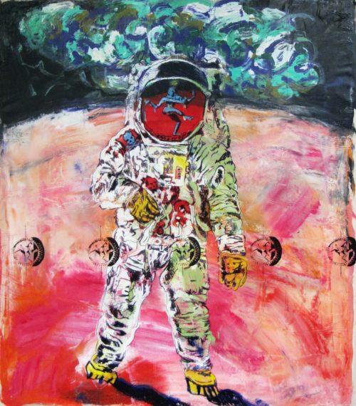 """""""Fukushima Cover-Alls"""" 2013, Oil / Canvas, 68in.X 62in."""