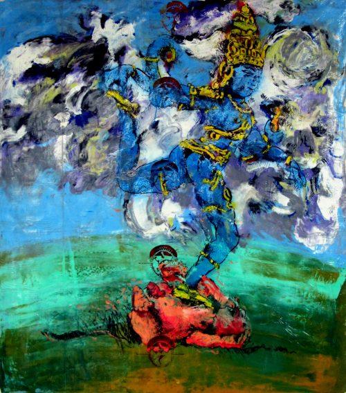 """Fukushiva #1"" 2011, Oil / Canvas, 80inX 68in."