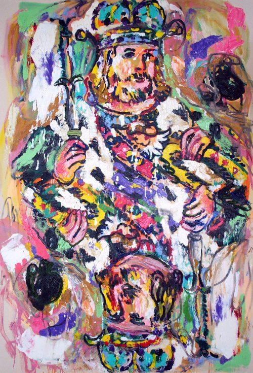"""German King of Spades"" 2003, Oil / Canvas. 78 ""X 60"""