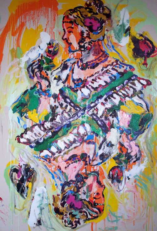 """""""German Queen of Spades"""" 2005, Oil on Canvas. 78 """"X 60"""""""