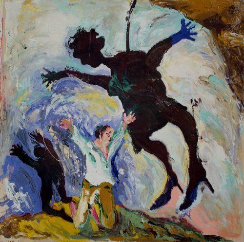 """Goya's warning"""" 2013, Oil / Canvas, 80inX 80in."