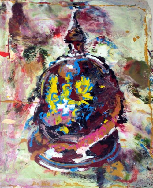 """Helmet"" 2009, Oil / Canvas. 40""X 36"""