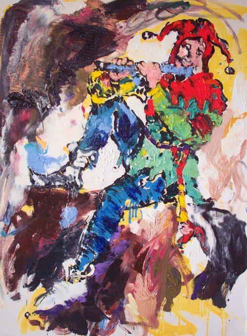 """""""Joker"""" 2004, Oil on Canvas. 48"""" X 36"""""""""""