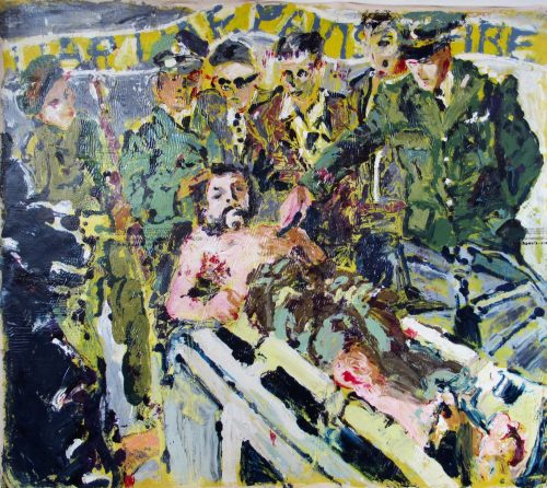 """Liar, Liar, Pants On Fire"" 2007, Oil / Canvas, 56inX 60in."
