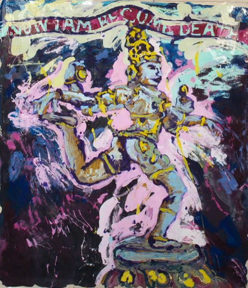 """From the Series: The Gates of Hell """"Shiva"""" 2013, Oil / Canvas, 60in.X 56in."""