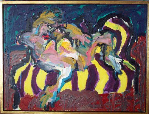 """""""Odalisque on a Divan"""" 1985. Oil on Canvas. 56""""X 68"""""""