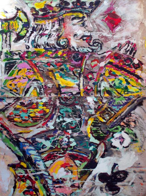 """""""QUING"""" 2003, Oil on Canvas. 120 """"X 96"""""""