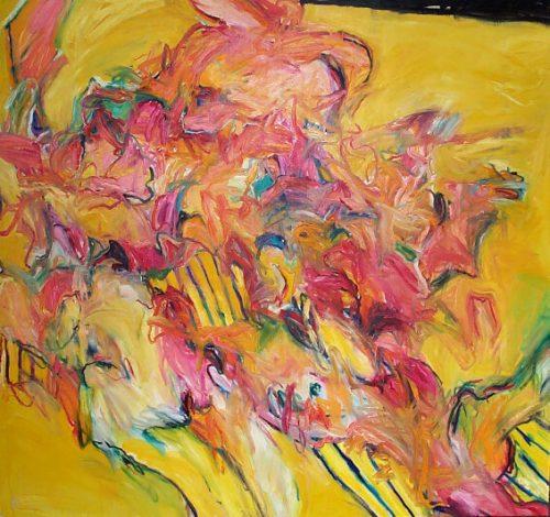 """""""Charnel House Beach"""" 1987. Oil on Canvas. 78""""X 78"""""""