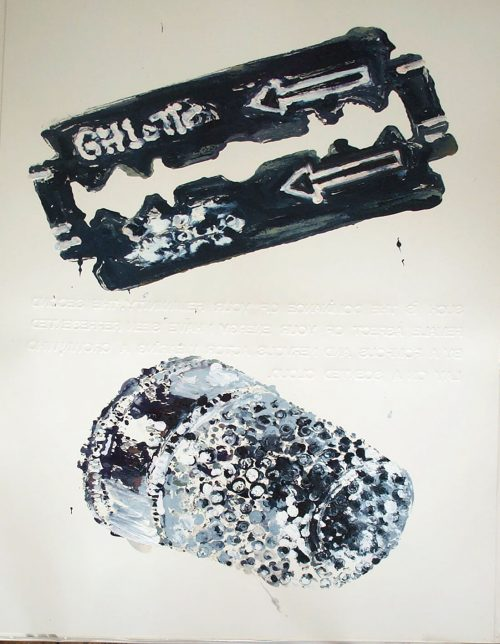 """Series: Song of Songs; ch. 4 vs. 2 2006. Oil on 2 Ply Paper. 60""""X 40"""""""