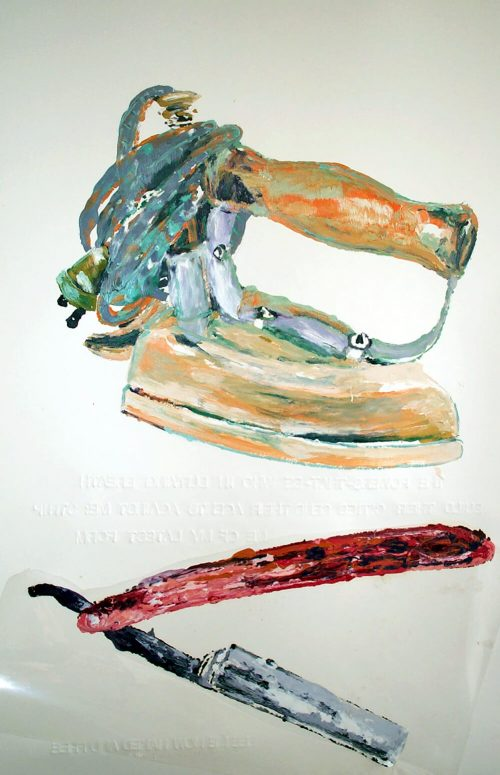 """Series: Song of Songs; ch. 5 vs. 7. 2006. Oil on 2 Ply Paper. 60""""X 40"""""""