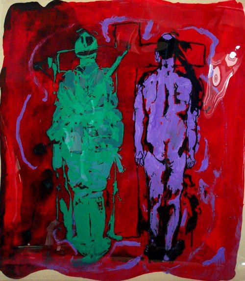 """Tet Offensive"" 2005, Oil on Duralar/Canvas. 40""X 32"""