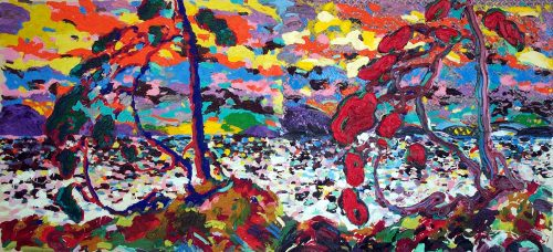 """WEST WIND (T. Thompson) Inversion"" 2007, Oil / Canvas. 60""X 120"""