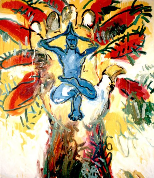 """Tree Man,#2"" 2002. Oil on Canvas. 56""X 48"""