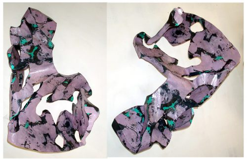 """Broken Symmetry"" 2018. Paper, Gesso, Insulation Foam. 42""X 28""X 18"""