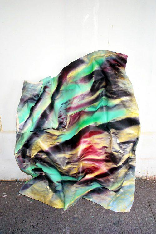 """Wave Without An Ocean"" 2017. Canvas/Acrylic/Foam. 52in.X 42in.X 14in."